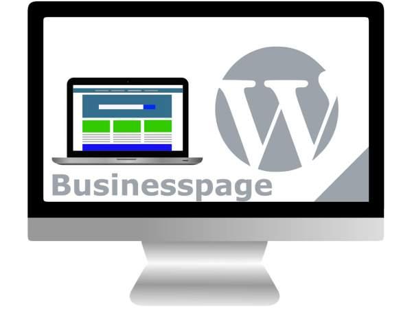 Webseite mit WordPress | Businesspage