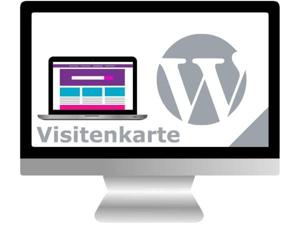 Webseite mit WordPress | Visitenkarte
